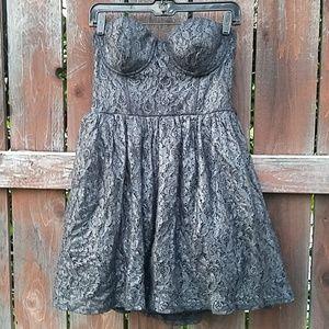 Dresses & Skirts - 🖤 Gunmetal lace dress + free shipping!!🖤